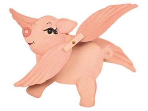 Cherry Tree Toys Flying Pig Whirligig DIY Kit