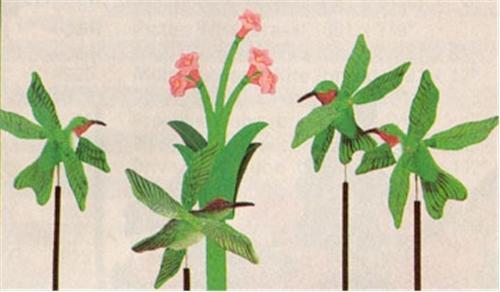 Cherry Tree Toys Hummingbirds Whirligig DIY Kit