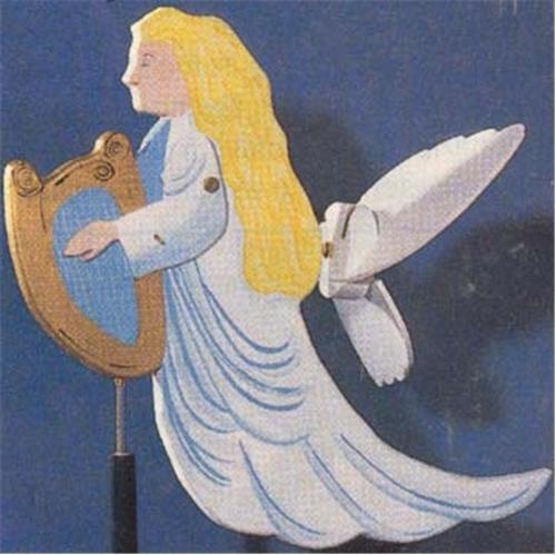 Cherry Tree Toys Angel with Harp Whirligig DIY Kit