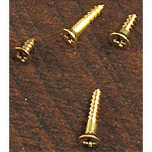 Cherry Tree Toys Brass Flat Head Phillips Screws