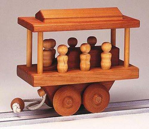 Cherry Tree Toys Trolley Car Pull Toy Plan