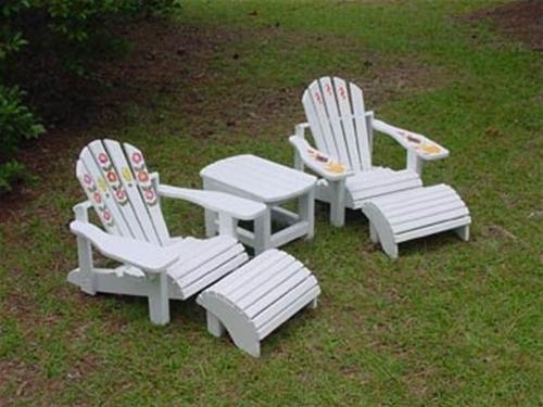 Cherry Tree Toys Childs Adirondack Furniture Set