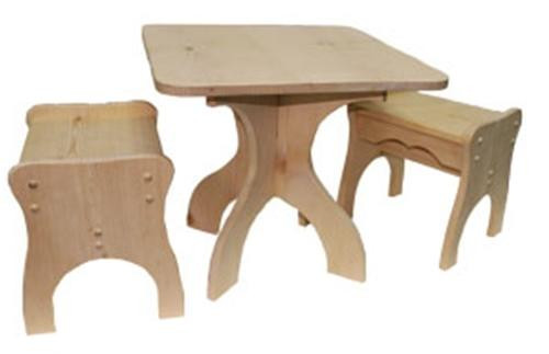 Cherry Tree Toys Game Table and Chairs Plan