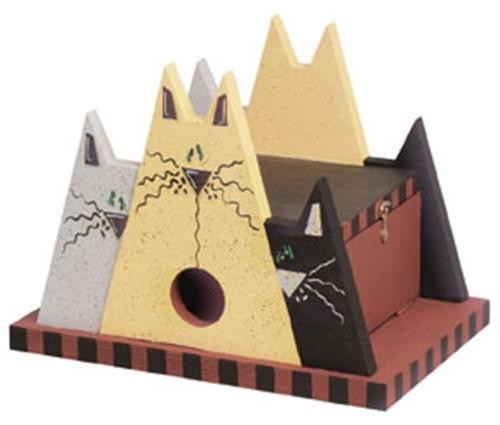 Cherry Tree Toys Grey, Yellow, Black Cat House Plan