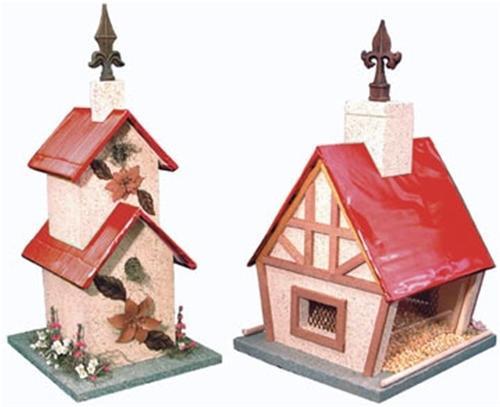 Cherry Tree Toys Red Aluminum Birdhouse and Feeder Plan
