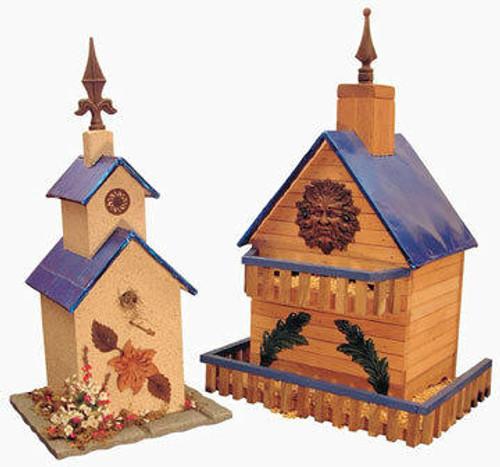 Cherry Tree Toys Blue Aluminum Birdhouse and Feeder Plan