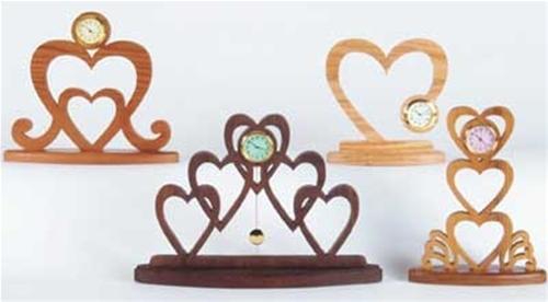 Wildwood Designs Valentine Hearts Clocks Plan