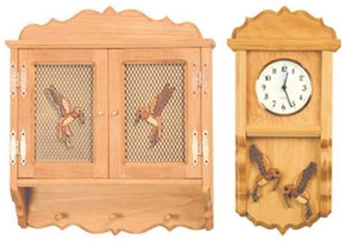 Cherry Tree Toys Hummingbird Clock and Shelf Plans