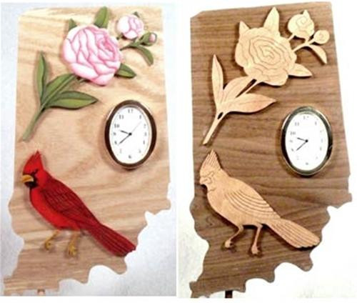 Wildwood Designs Indiana State Clock Pattern