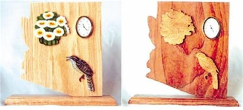 Wildwood Designs Arizona State Scroll Saw Clock Pattern