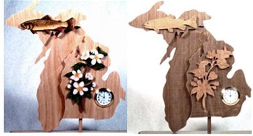 Wildwood Designs Michigan Scroll Saw Clock Pattern
