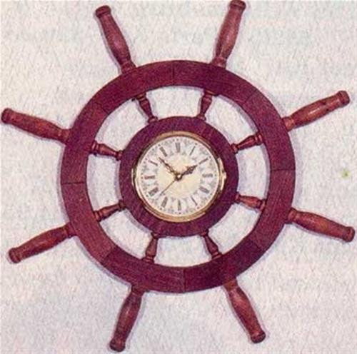 Cherry Tree Toys Ships Wheel Clock Plan