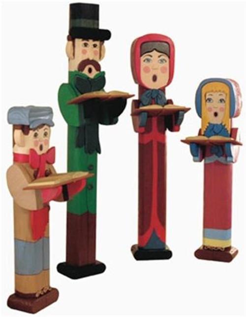 Cherry Tree Toys Carolers Post People Plan