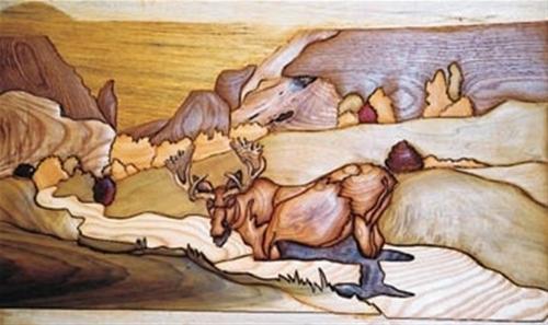 Cherry Tree Toys Moose Intarsia Plan