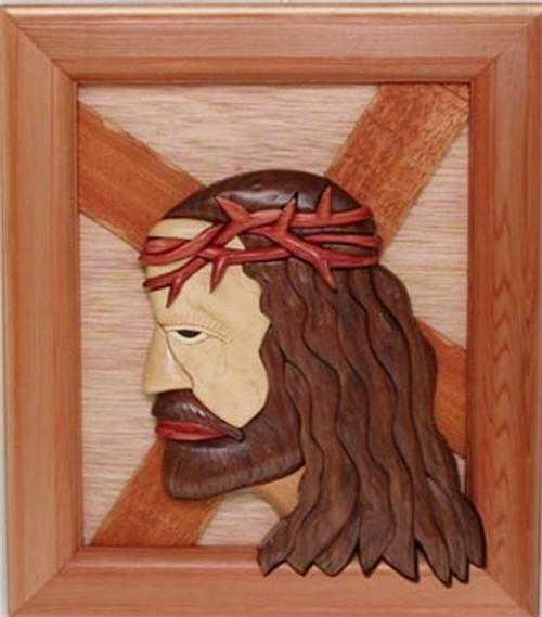 Cherry Tree Toys Burden of Christ Intarsia Plan