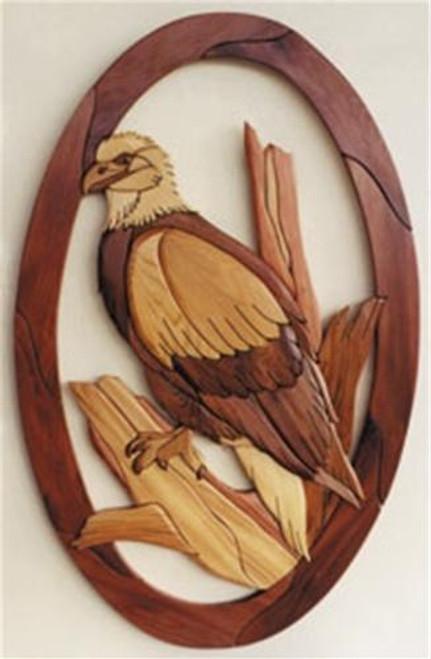 Cherry Tree Toys Eagle Sitting Intarsia Plan