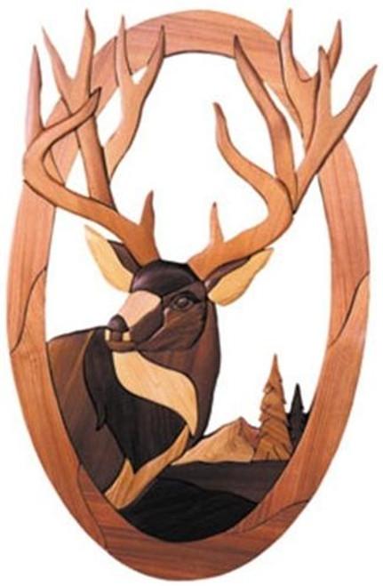 Cherry Tree Toys Oval Deer Head Intarsia Plan