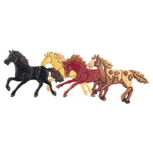 Cherry Tree Toys Running Horses Intarsia Plan