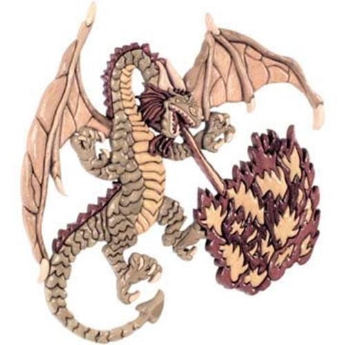 Cherry Tree Toys Fire Breathing Dragon Intarsia Plan