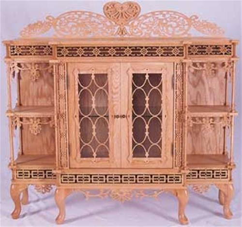 Wildwood Designs Chippendale Scroll Saw Cabinet Plan