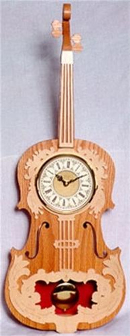 Wildwood Designs Violin Scroll Saw Clock Plan