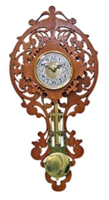 Wildwood Designs Leaf Scroll Saw Wall Clock
