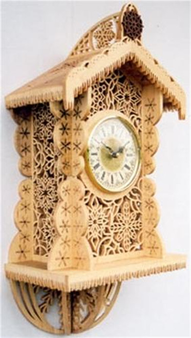 Wildwood Designs The Snowflake Scroll Saw Clock Plan