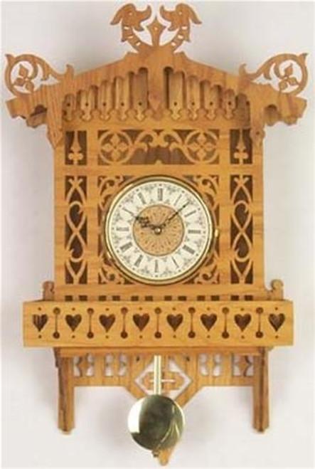 Wildwood Designs Alpine Wall Scroll Saw Clock Plan