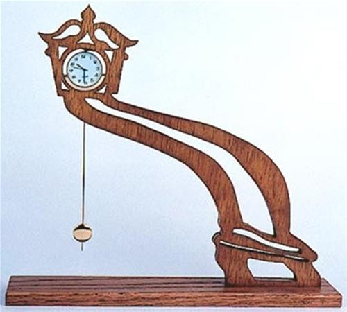 Wildwood Designs Leaning Bent Scroll Saw Clock Plan