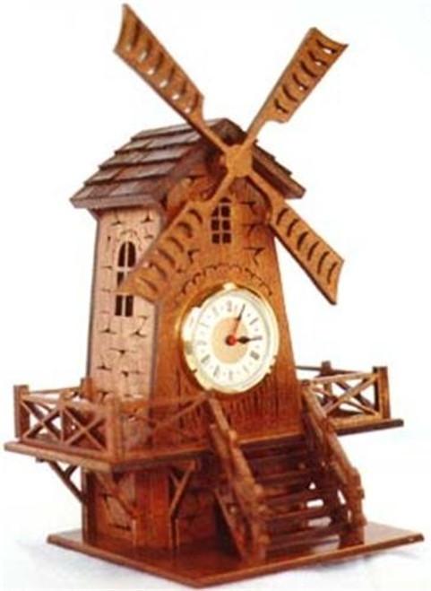 Wildwood Designs Windmill Clock Scroll Saw Plan