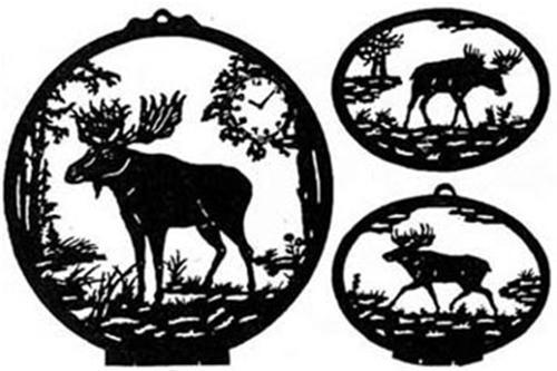 Wildwood Designs Moose Clock/Silhouettes Scroll Saw Plan
