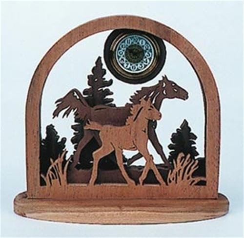 Wildwood Designs Mare and Colt Scroll Saw Clock Plan