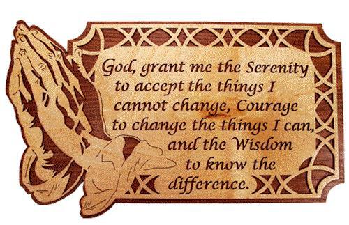 Wildwood Designs Serenity Prayer Scroll Saw Plan