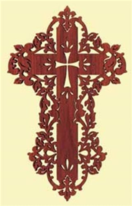 Timberlace August Cross Silhouette Scroll Saw Plan
