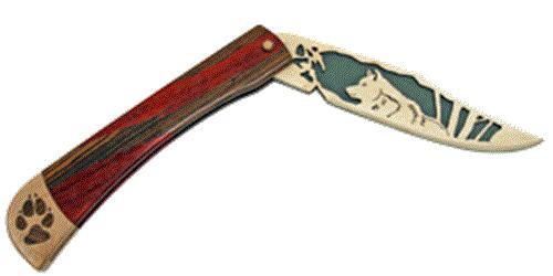 Wildwood Designs Wolf Scroll Saw Pocket Knife Plan