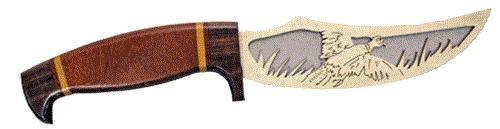 Wildwood Designs Pheasant Scroll Saw Hunting Knife Plan