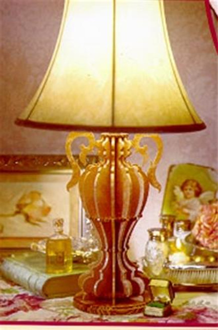 Wildwood Designs The Peterborough Lamp Scroll Saw Plan is fun to create and will be a conversation piece for life.
