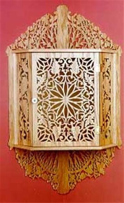 Wildwood Designs Corner Cabinet Scroll Saw Plan