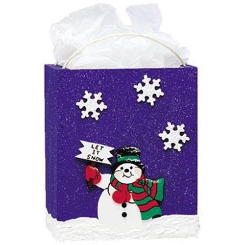 Cherry Tree Toys Large Snowman Gift Bag Plan