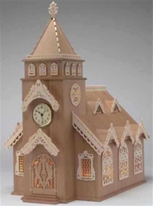 Wildwood Designs Steepled Church Scroll Saw Clock Plan
