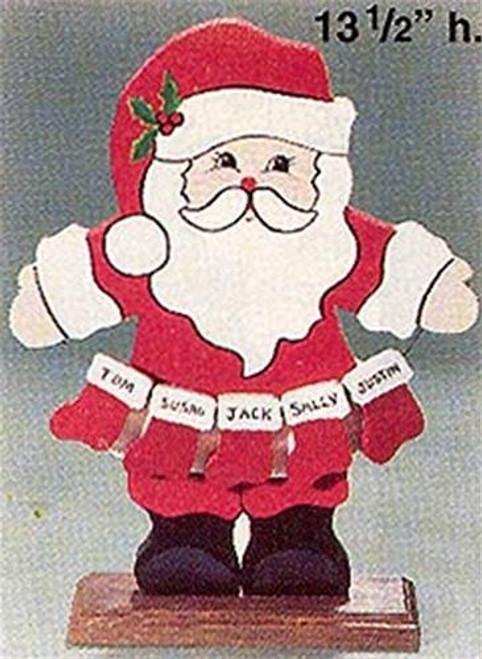Cherry Tree Toys Santa with Stocking Plan