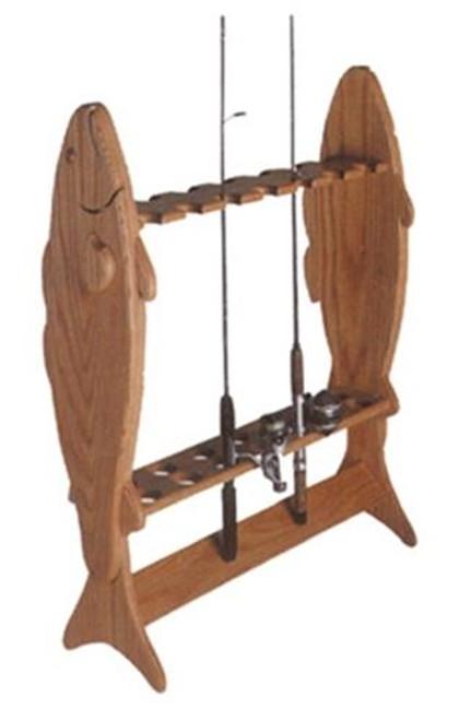 Cherry Tree Toys Fishing Pole Caddy Plan