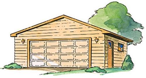 Cherry Tree Toys Gable Roof Garage Plan