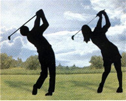 Winfield Collection Shadow Golfing Couple Woodworking Plan