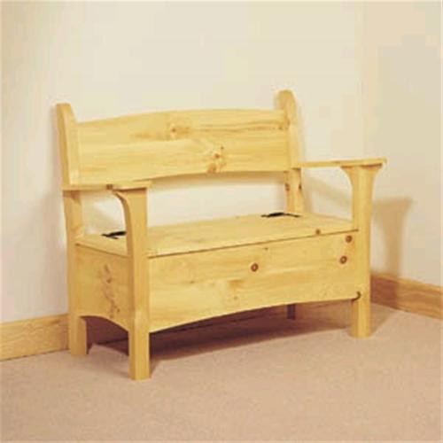 Build a eye-catching bench with the Sherwood Deacon's Bench Woodworking Plan.