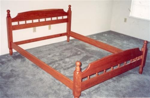Cherry Tree Toys Early American Queen Bed Plan
