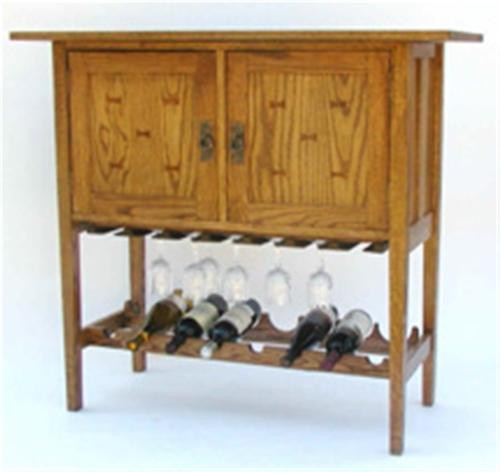 American Furniture Mission Wine and Spirits Cabinet Plan