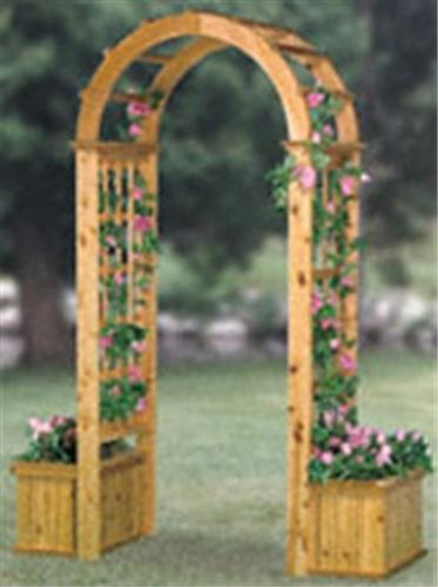Winfield Collection Arched Trellis With Planters Plan