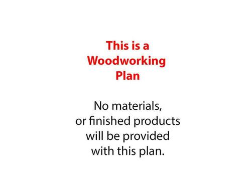 The Bowl Planter Woodworking Plan is a full size woodworking paper plan.