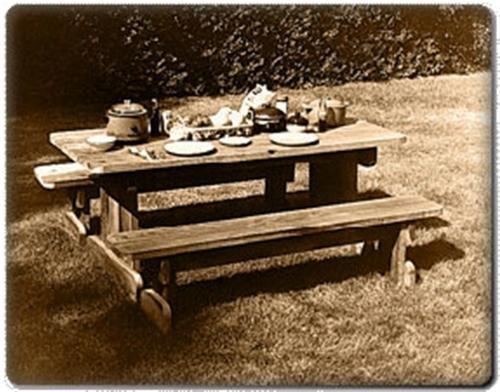 U-Bild Redwood Picnic Set Plan